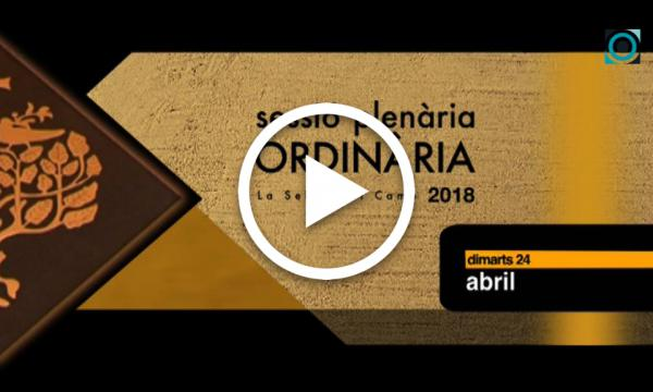 Ple ordinari 24/04/2018 (Part 1)