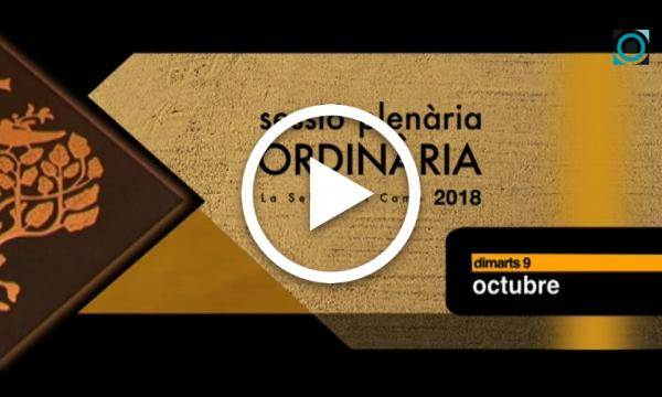 Ple ordinari 09/10/2018 (Part 2)