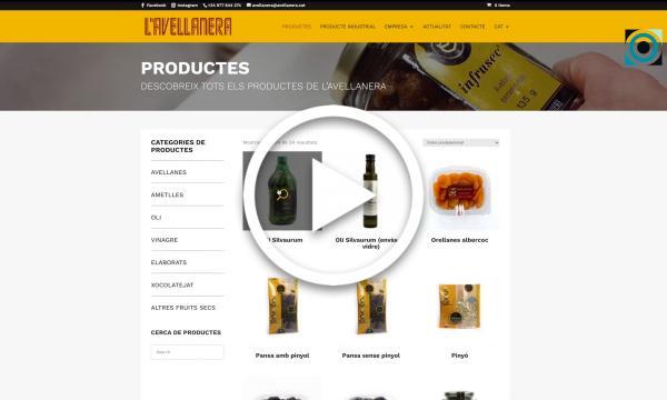 L'Avellanera renova la seva web i implanta el servei de venda en línia