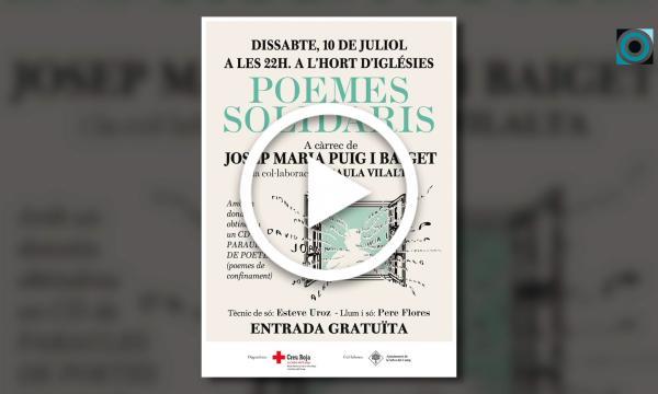 """Josep M. Puig i Baiget torna als escenaris amb el recital poètico-musical """"Poemes solidaris"""""""