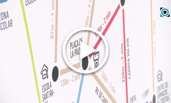 L'Ajuntament rellança la campanya del Metrominut, pensada per fomentar els desplaçaments a peu