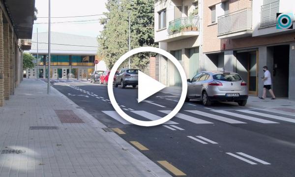 Finalitzen les obres del carrer Joan Domingo, que ha prioritzat espai pels vianants i ha millorat la mobilitat