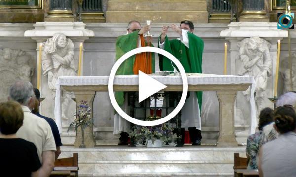 Els nous rector i vicari de la Selva oficien la primera eucaristia a la parròquia